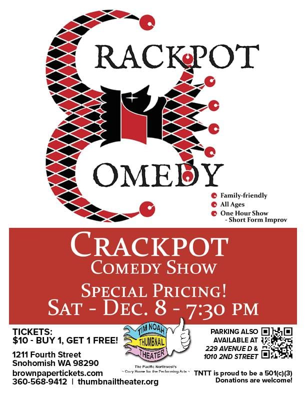 Crackpot Comedy December 8th show